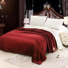 羊羔绒毛毯 150*200 红