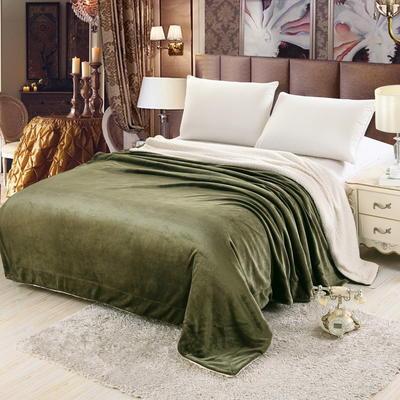 羊羔绒毛毯 150*200 绿