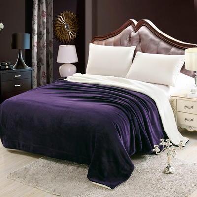羊羔绒毛毯 200*230 紫