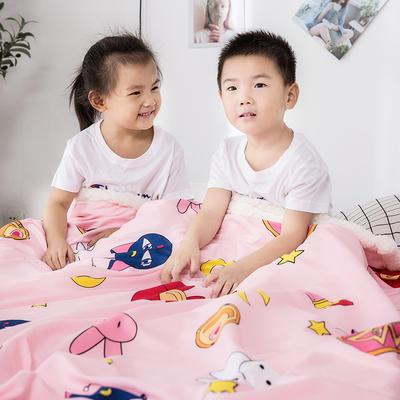 2019新款儿童羊羔绒毛毯毯子 110*150 动物乐园