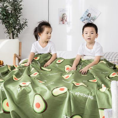 2019新款儿童羊羔绒毛毯毯子 110*150 牛油果