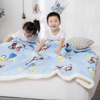 2019新款儿童羊羔绒毛毯毯子 110*150 嘻哈猴