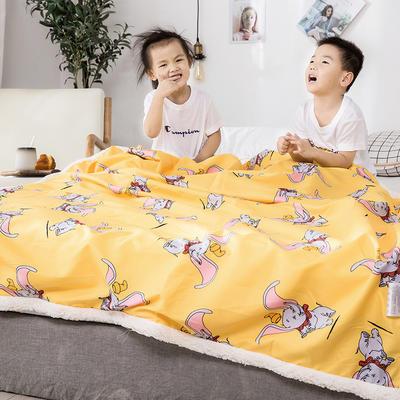2019新款儿童羊羔绒毛毯毯子 110*150 小飞象