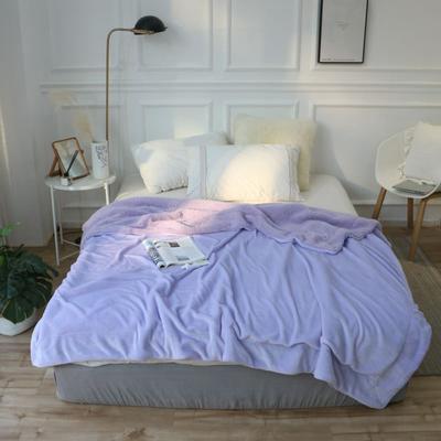 羊羔绒毛毯 150*200 安娜紫