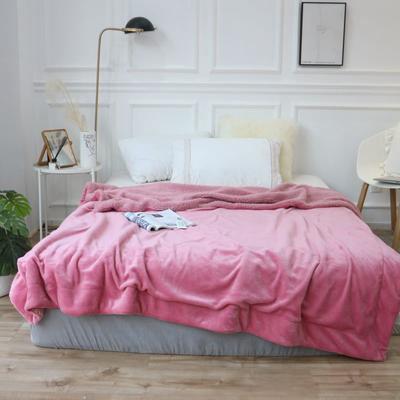 羊羔绒毛毯 150*200 蜜桃粉