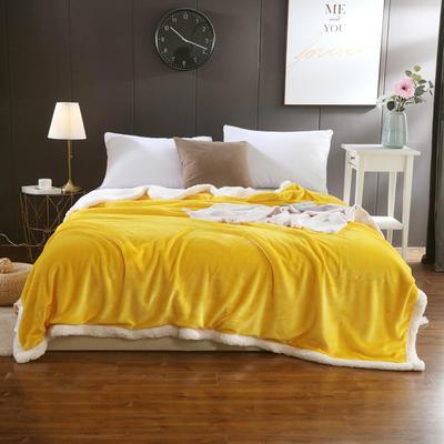 2019新款马卡龙羊羔绒毛毯 150*200cm 黄