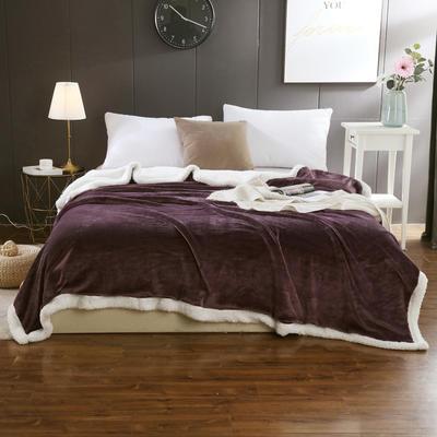 2019新款马卡龙羊羔绒毛毯 150*200cm 紫罗兰
