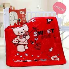 童毯-儿童云毯(1.1*1.4) 1195大红