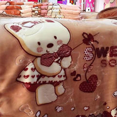 童毯-儿童云毯(1.1*1.4) 1195棕