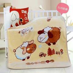 童毯-儿童云毯(1.1*1.4) 1220奶黄
