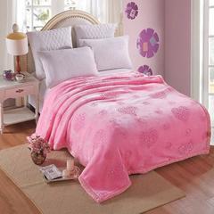 婚庆 绣花拉舍尔绣花毛毯 200cmx230cm 粉红