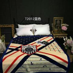 双层云毯 单人毛毯 学生毯 150cmX(范围200-220)cm 2012蓝