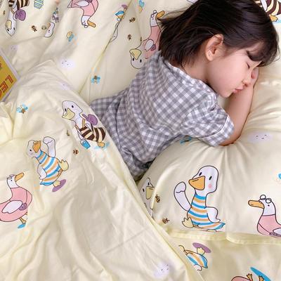 (总)2020卡通ins全棉四件套双人斜纹印花纯棉三件套小清新被套床单式床笠款单人学生宿舍床上用品 1.0m(3.3英尺)床 加油鸭