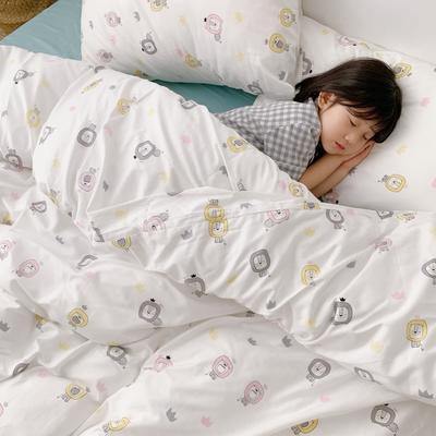(总)2020卡通ins全棉四件套双人斜纹印花纯棉三件套小清新被套床单式床笠款单人学生宿舍床上用品 1.0m(3.3英尺)床 狮子王