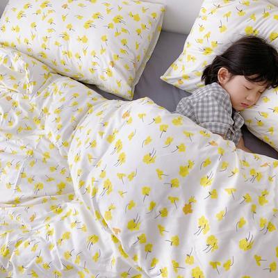 (总)2020卡通ins全棉四件套双人斜纹印花纯棉三件套小清新被套床单式床笠款单人学生宿舍床上用品 1.0m(3.3英尺)床 小菊花