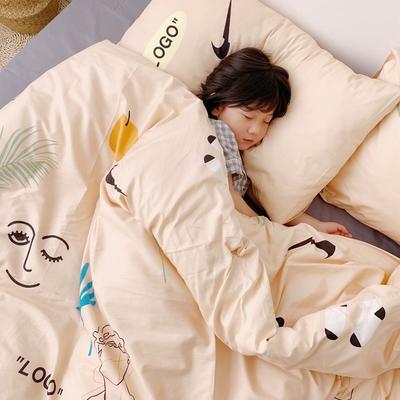 (总)2020卡通ins全棉四件套双人斜纹印花纯棉三件套小清新被套床单式床笠款单人学生宿舍床上用品 1.0m(3.3英尺)床 艺术家