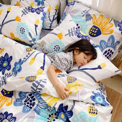 (总)2020卡通ins全棉四件套双人斜纹印花纯棉三件套小清新被套床单式床笠款单人学生宿舍床上用品 1.0m(3.3英尺)床 向日葵