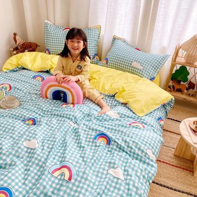 2020新款小清新卡通純棉四件套 1.2m(4英尺)床單款三件套 彩虹