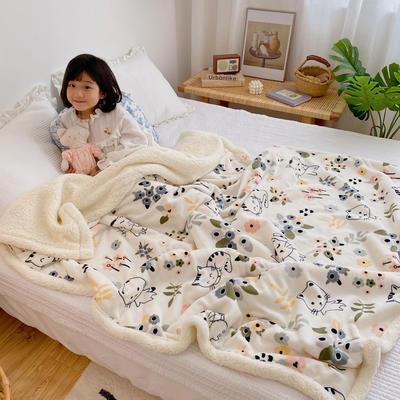 2020新款多功能羊羔绒被套毯 150x200cm带隐型拉链 喵小姐