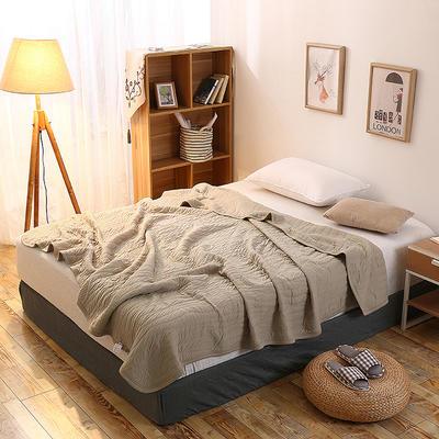 全棉针织一体夏被系列 150x200cm 米灰色
