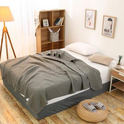 全棉针织一体夏被系列 150x200cm 土灰色