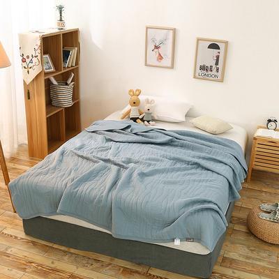 全棉针织一体夏被系列 150x200cm 幸运蓝