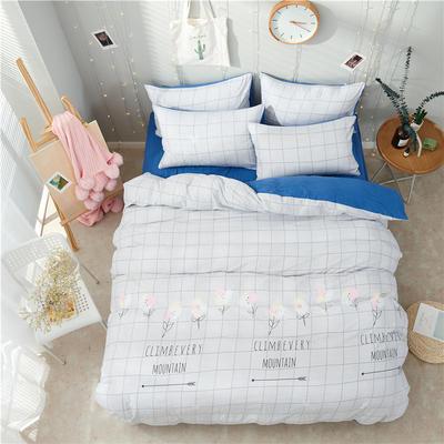 水洗棉四件套(小清新系列) 1.2m床单款三件套 格调