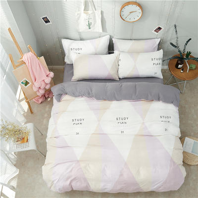 水洗棉四件套(小清新系列) 1.2m床单款三件套 尚可