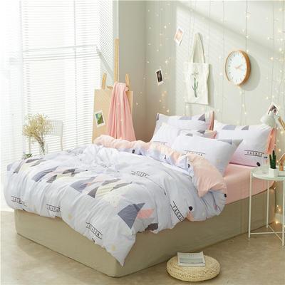 水洗棉四件套(小清新系列) 1.2m床单款三件套 时尚空间