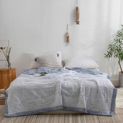 2019新款水洗棉夏被 200X230cm 涂鸦-灰