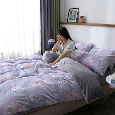 2019最新款水晶绒四件套 2.0m床(床单款) 摩卡