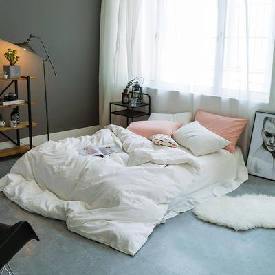 基础款水洗棉-纯色 小小号床单款1.2m(4英尺)床 白