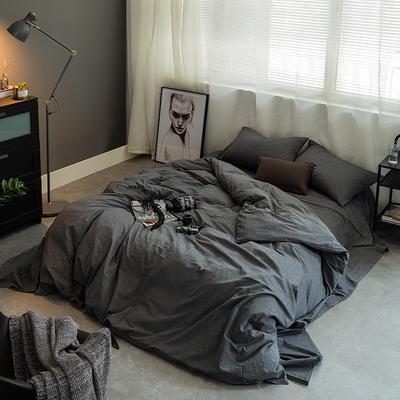 基础款水洗棉-纯色 小小号床笠款1.2m(4英尺)床 深灰