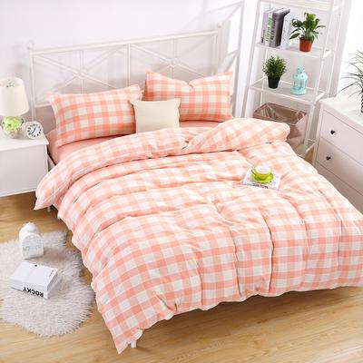提花水洗四件套 床单款1.5m(5英尺)床 粉