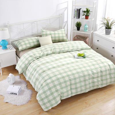 提花水洗四件套 床笠款1.8m(6英尺)床 绿