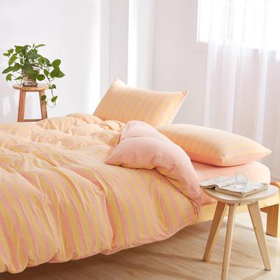 针织棉四件套 小小号床单款1.2m(4英尺)床 冰淇淋800