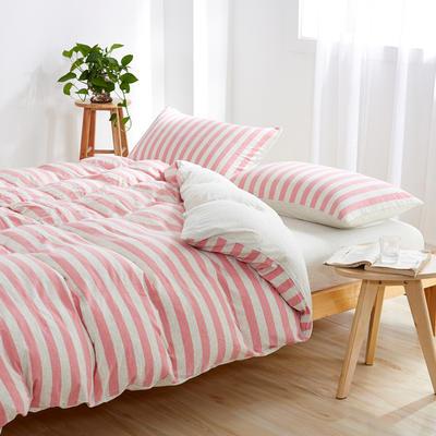 针织棉四件套 小小号床单款1.2m(4英尺)床 粉色佳人800