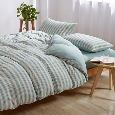 针织棉四件套 小小号床单款1.2m(4英尺)床 混米绿