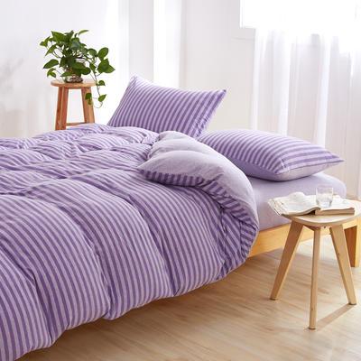 针织棉四件套 小小号床单款1.2m(4英尺)床 露红烟紫800