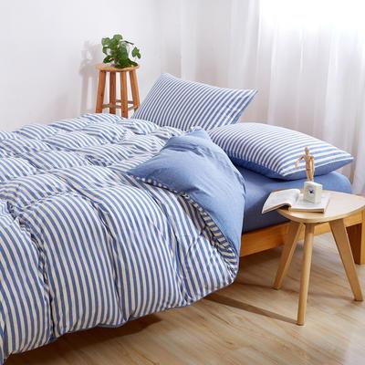 针织棉四件套 小小号床单款1.2m(4英尺)床 米兰中条800