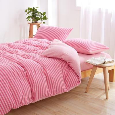 针织棉四件套 小小号床单款1.2m(4英尺)床 世外桃源800