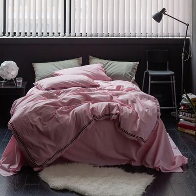TB英伦风织带款水洗棉四件套 床单款1.5m(5英尺)床 巴洛克-浅粉