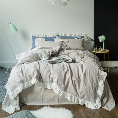洛丽塔公主风荷叶边 床单款1.5m(5英尺)床 洛丽塔-米细条