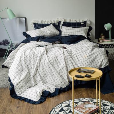 洛丽塔公主风荷叶边 床笠款1.8m(被套加大) 洛丽塔-晚秋格