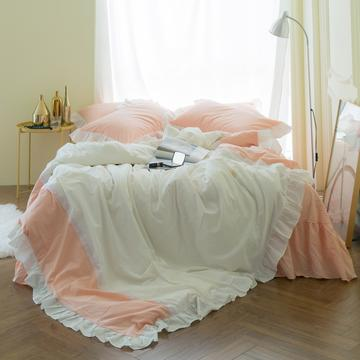 女仆拼接款款 标准1.5m(床裙2.45*2.45) 粉玉+白