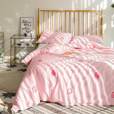 133x72拼色织水洗系列四件套 1.5m(5英尺)床 草莓