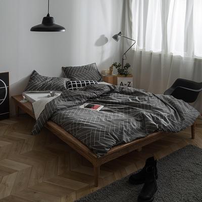133x72拼色织水洗系列四件套 1.5m(5英尺)床 情网