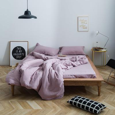 十字双层纱系列四件套 1.5m(5英尺)床 豆沙