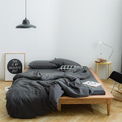 十字双层纱系列四件套 1.5m(5英尺)床 灰色