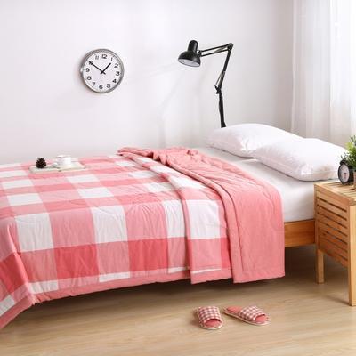 水洗棉系列夏被 150x200cm 红大格